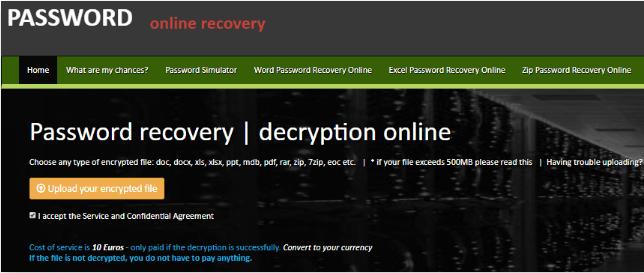 password online recovery rar
