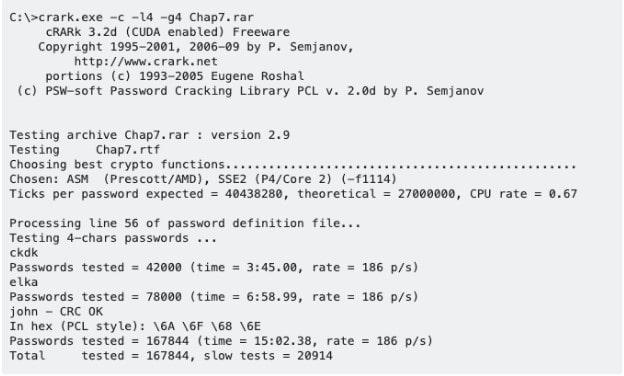 crark rar password recovery tool