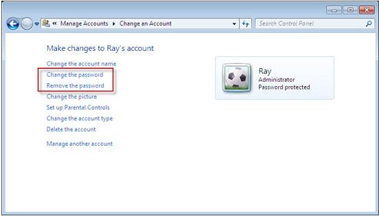 change administrator password