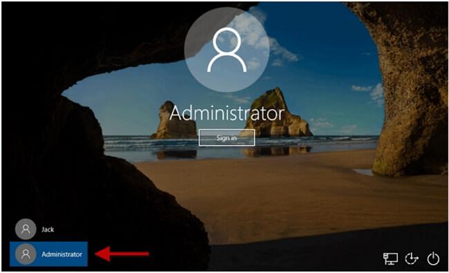 click administrator
