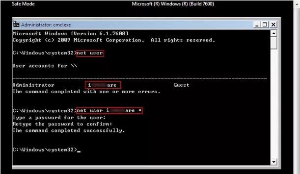 command line net user