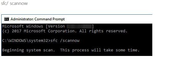 command scannow