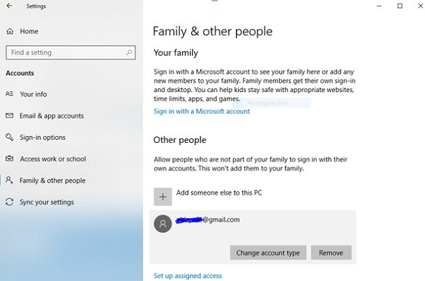family and other people
