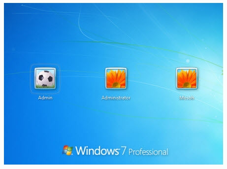 login to windows 7 without password with hidden admin account