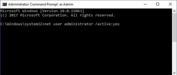 net user admin yes
