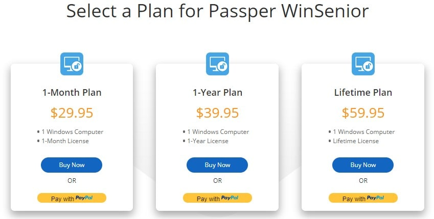 passper winsenior official purchase page