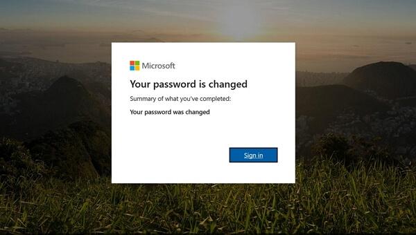 passowrd changed