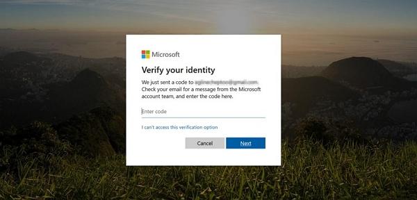 receive security code