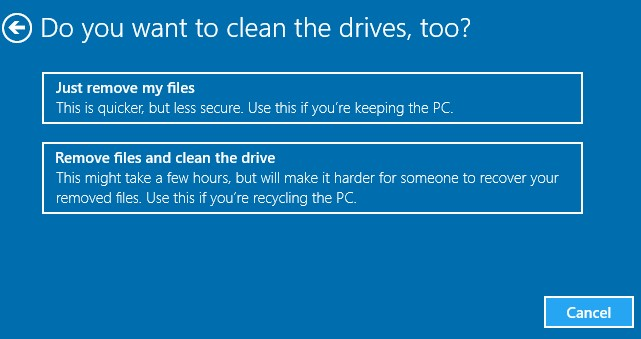 remove the files