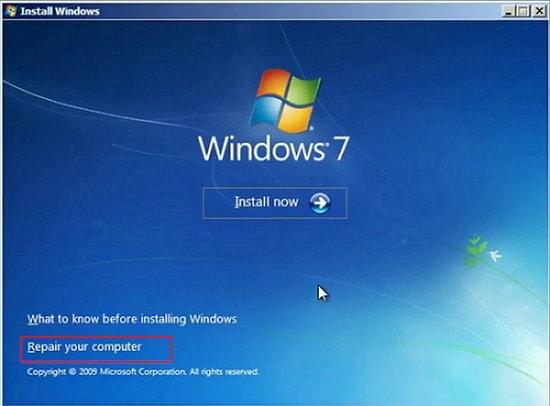 repair your computer windows 7