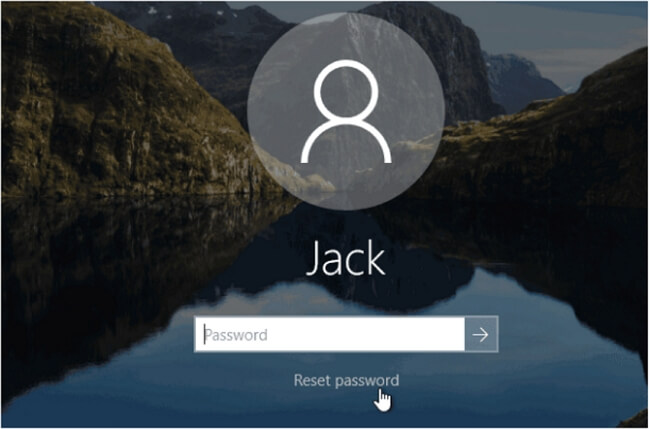 reset win 10 password