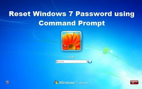 reset windows 7 password using command prompt