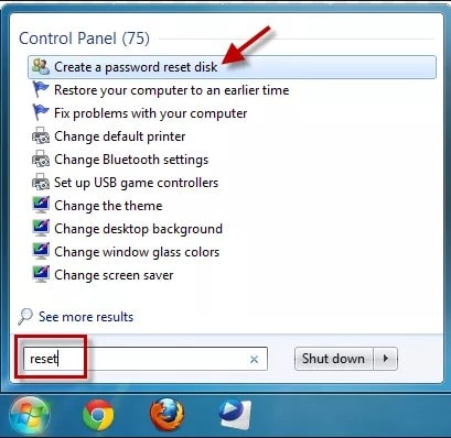 search create reset disk