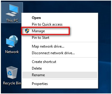this pc manage
