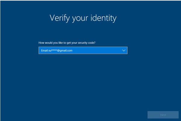 verify identity win10