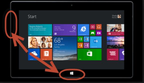 windows volume down tablet