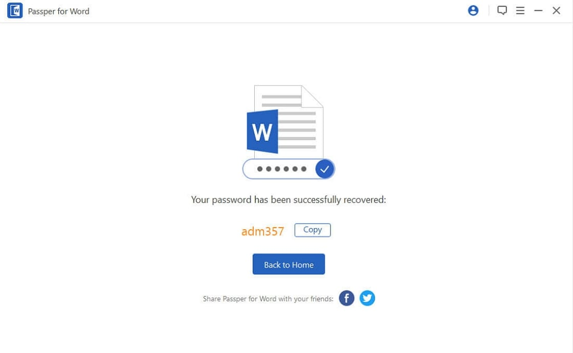 recover word opening password