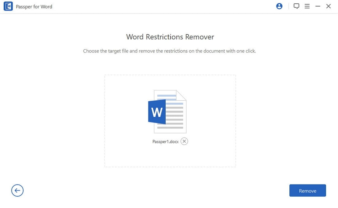 import restricted word file