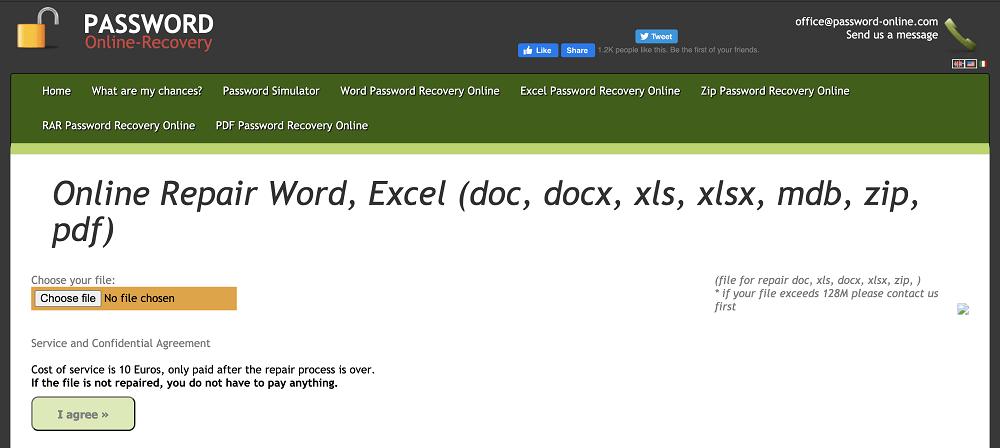 Word線上救援工具Password Online Recovery