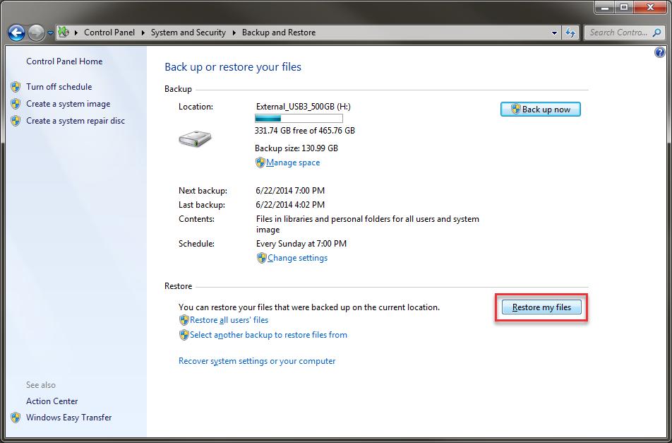 windows 7還原備份