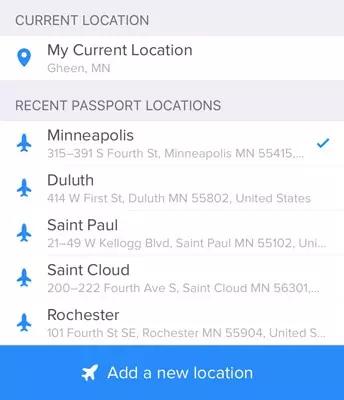 Tinder跨國護照改定位