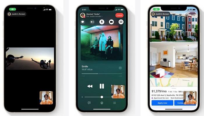 iOS 15 FaceTime SharePlay 同播共享