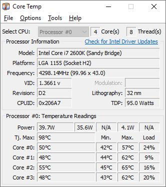 檢測CPU溫度