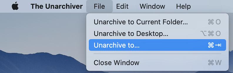Unarchiver解壓縮Mac RAR