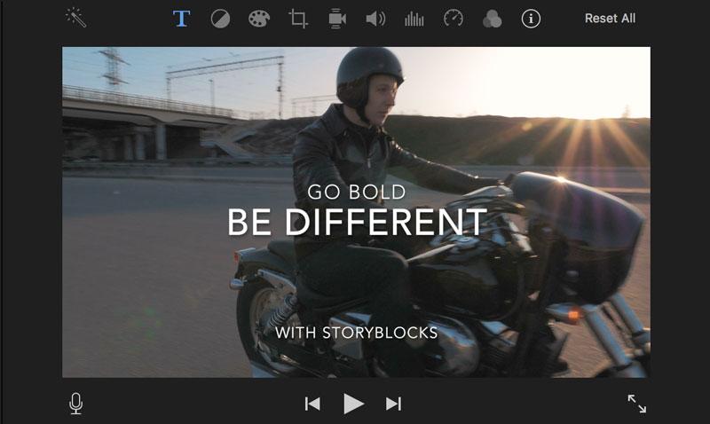 用iMovie為影片添加標題