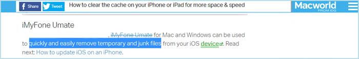 macworld review on umate