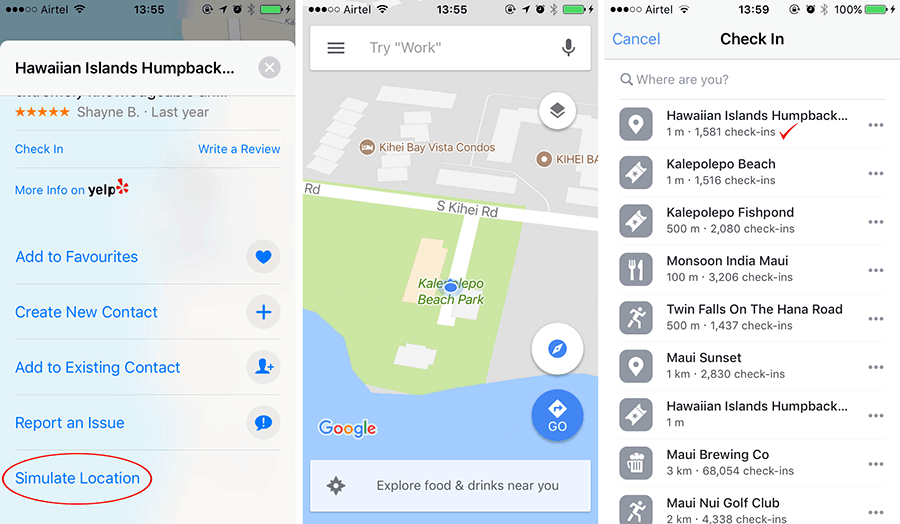 simulate location on your iPhone