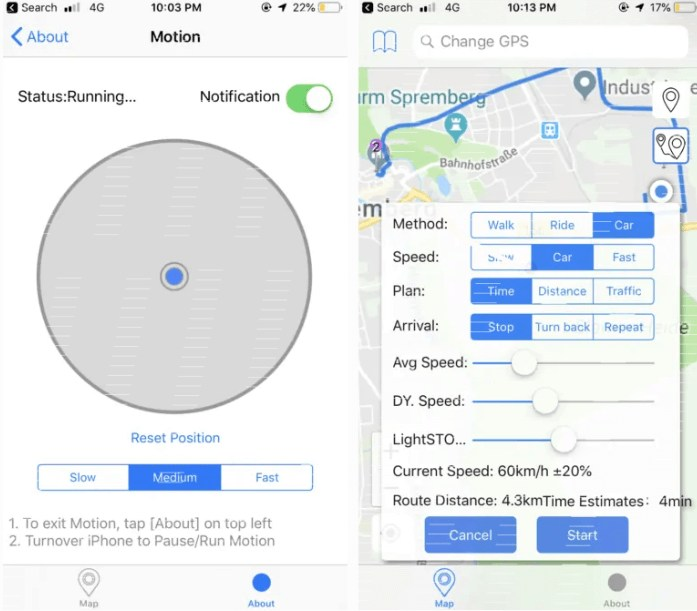 navigate the location pin to your ideal place