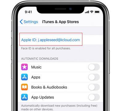 在應用商店檢查Apple ID