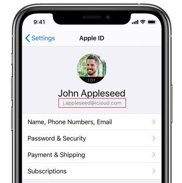在裝置尋找Apple ID