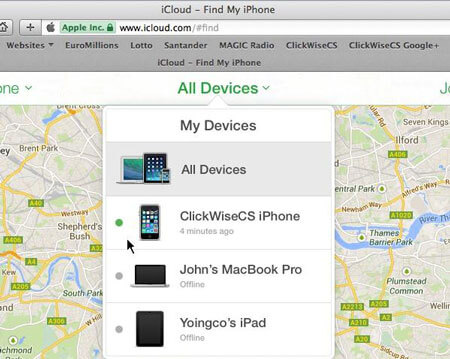 iCloud尋找我的iOS設備
