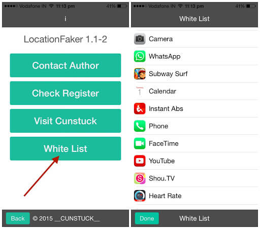 choose the apps that you want to fake location