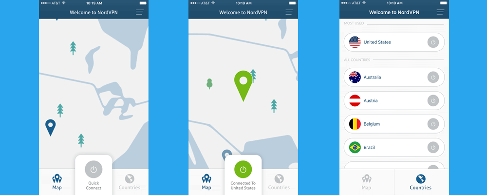fake location with nordvpn