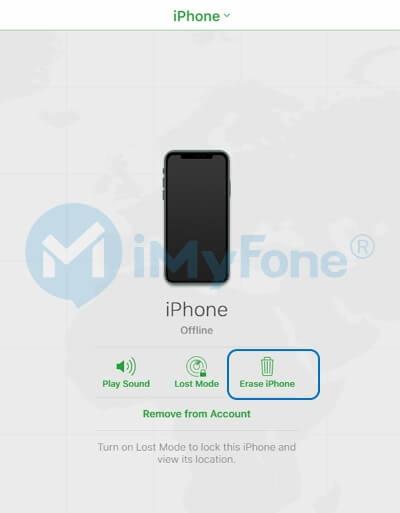 登錄iCloud以擦除iPhone