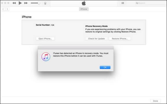 使用iTunes退出恢復模式
