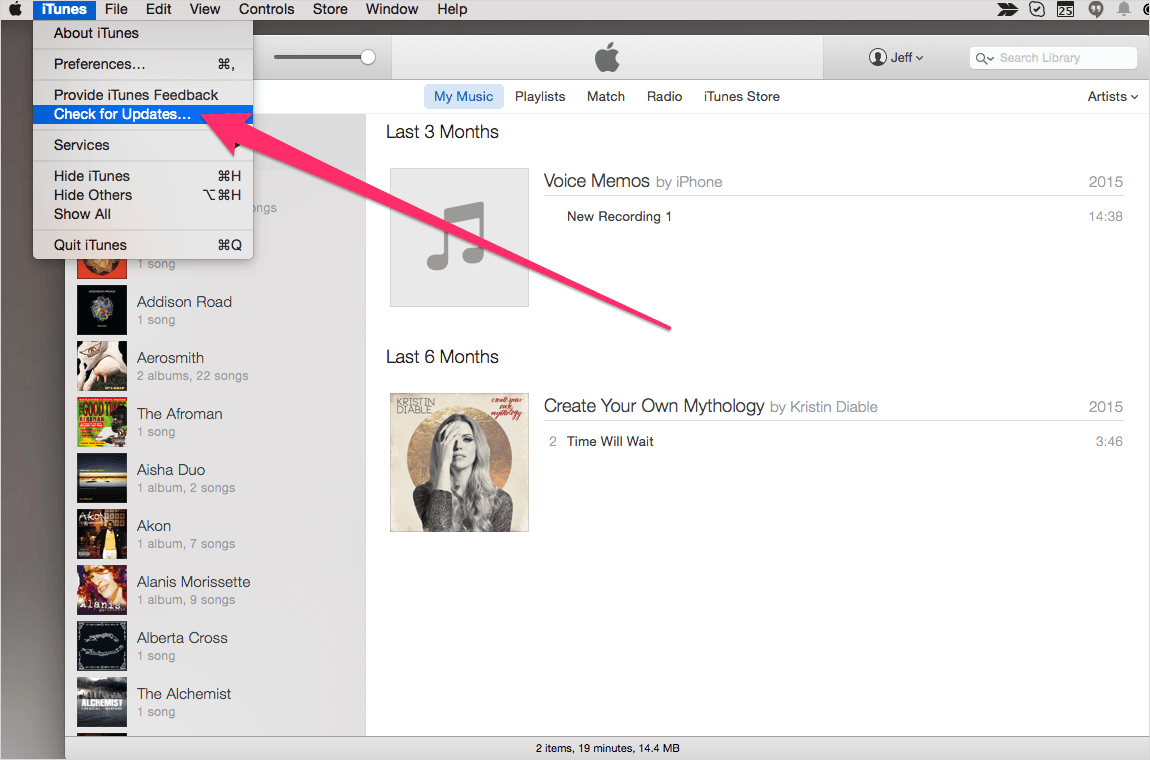 在Mac電腦上更新itumes