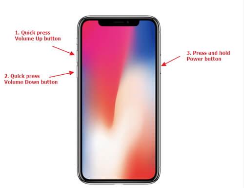 強制重啟iPhone X
