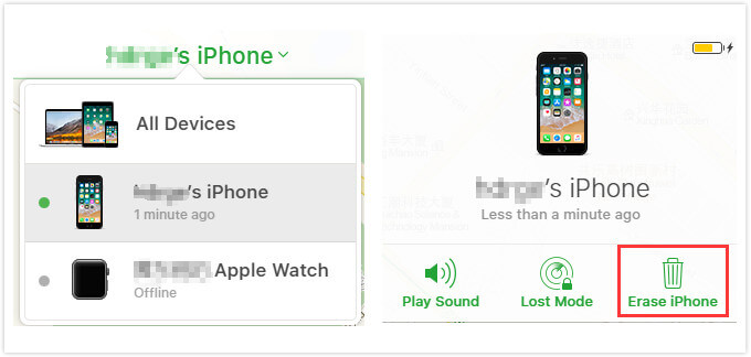 使用icloud擦除iPhone