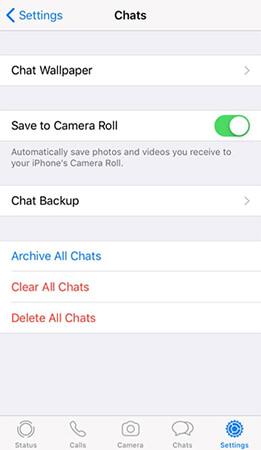 iPhone WhatsApp媒體保存到相機膠卷