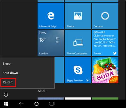 重新啟動Windows