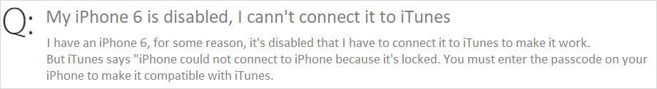 iphone 6停用