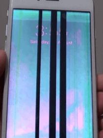 iphone 螢幕 黑線
