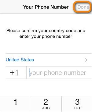 確認您使用的電話號碼和穿件備份所用的iCloud賬戶相同