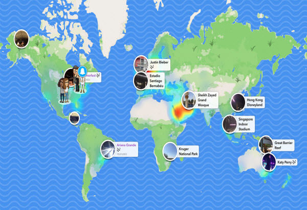 Snapchat 地圖