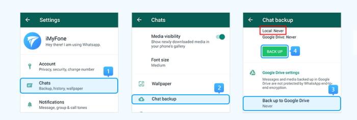 備份WhatsApp至SD卡