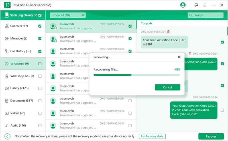 選擇WhatsApp數據導出到電腦